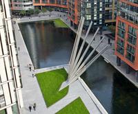 Веерный пешеходный мост в Паддингтоне, Лондон