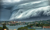 Сидней накрыло облачным цунами! Устрашающее зрелище!
