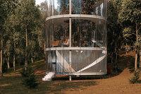 Казахский архитектор разработал стеклянный дом, построенный вокруг дерева
