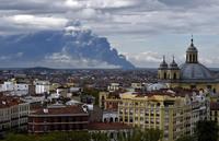 Как горела крупнейшая свалка автопокрышек в Европе