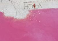 Природная розовая лагуна в Мексике — место, достойное собственного аккаунта в Instagram