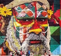Бразильский художник создал самый большой в мире уличный мурал для Олимпиады