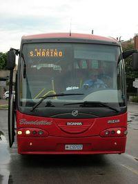 Автобус из Римини до Сан-Марино
