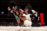22 безумных снимка о японском женском рестлинге, от которых становится не по себе