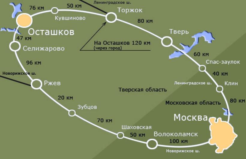 Схема проезда через тверь