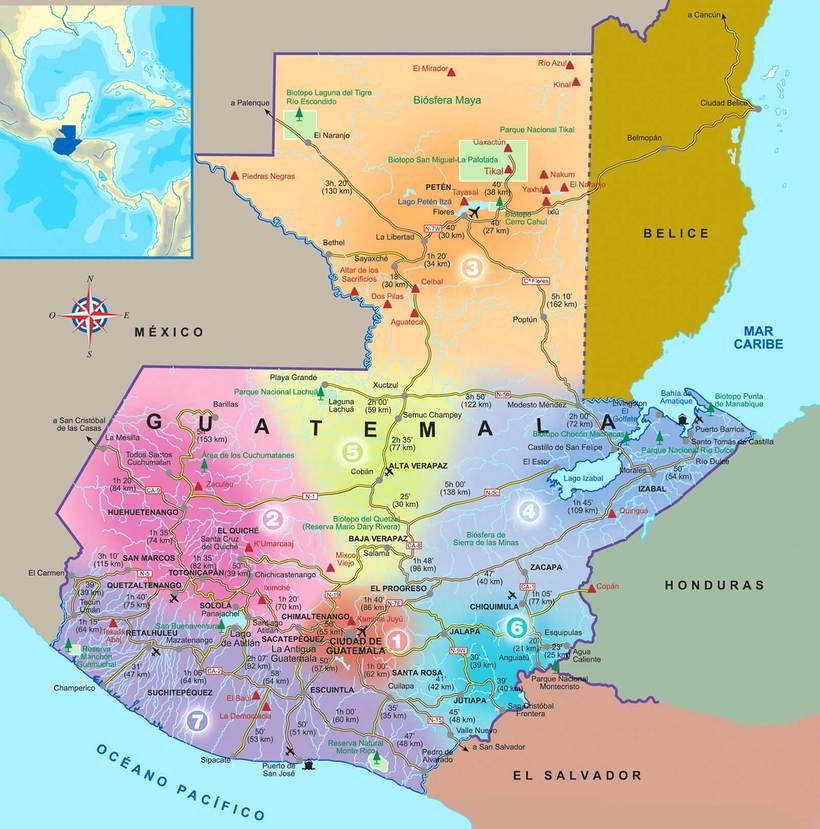 Гватемала Гватемала mapa