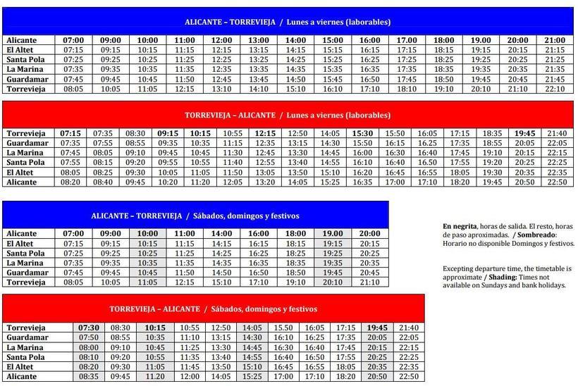 Расписания автобусов между торревьеха и мадрид