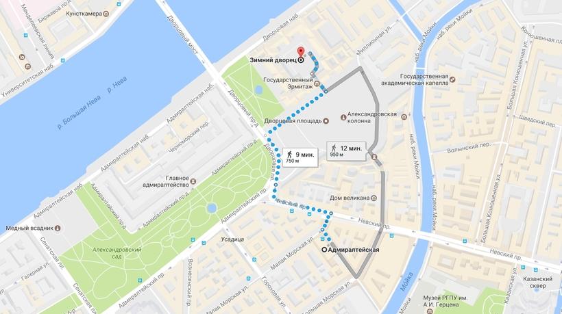 Метро ближайшее к дворцовой площади