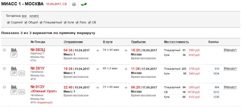 Билеты на поезд миасс ростов на ближайшее время