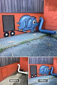 В Нью-Йорке художник украшает улицы гениальными и необычными рисунками