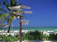 Пляж в Кубе в январе