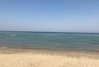Пляж в Салоники в июне