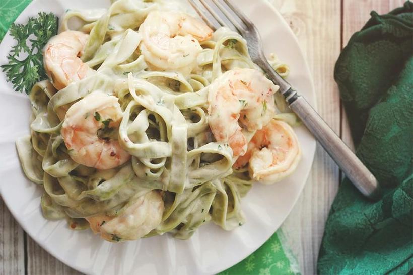 паста с мидиями и креветками в сливочном соусе рецепт