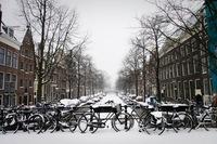 Амстердам в снегу, февраль