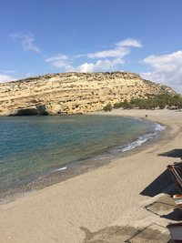 Пляж Матала на Крите