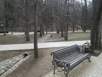 Курортный парк Кисловодска в марте.