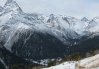 Вид на Домбай с высоты
