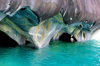 Мраморные пещеры на озере Хенераль Каррера