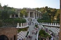 Парк Гуэль в Барселоне в июле