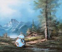 Американский художник «вписывает» элементы поп-культуры в старинные картины