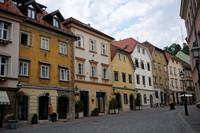 Любляна: город ранним субботним утром