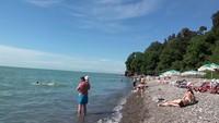 Пляж Зеленый мыс в августе