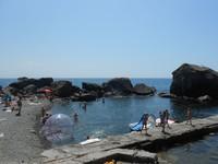 Крым, городской пляж в Алупке