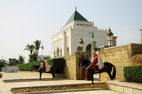Марокко: вид на мавзолей Мухаммеда V в Рабате