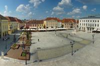 Панорама площади Старого города в Дьере