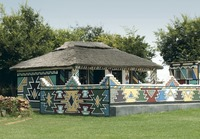 Красочные дома древнего африканского народа ндебеле