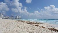 Июнь на пляже в Канкуне