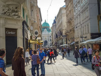 Вена: прогуливаюсь по улице Кольмаркта