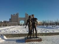 Астанинский Парк влюбленных в марте.
