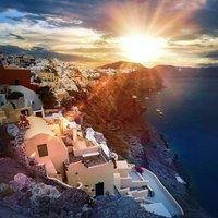 Солнце на Санторини