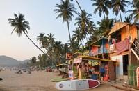 Индийский пляж на закате