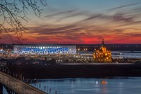 Красивый ночной Нижний Новгород