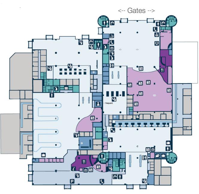 Карта аэропорта Абу-Даби