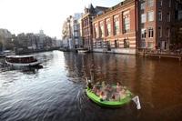 Плавающая джакузи под открытым небом Нидерландов