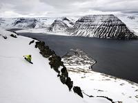 Кайл Миллерн на сноуборде исследует западные фьорды Исландии