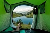 Утренние виды из палатки, от которых захватывает дух
