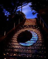 С виду это просто ступеньки с рисунком, но взгляни, что происходит, когда приходит ночь!