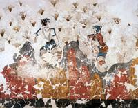 поселок ия Поселок Ия на острове Санторини akrotiri fresco