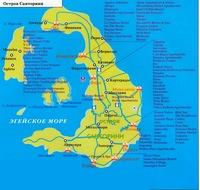 поселок ия Поселок Ия на острове Санторини karta ostrova santorini na russkom yazyke