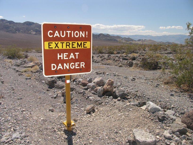долина смерти Путешествие в Долину Смерти extreme heat death valley