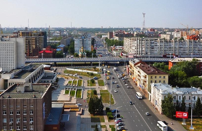 омск центр города улицы фото одной