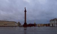 Дворцовая площадь в Санкт-Петербурге в ноябре