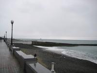 Морская набережная в феврале