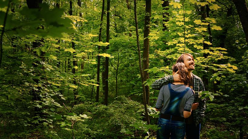 мемьет в лесу фото сестра