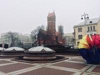 Минский костел зимой