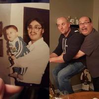 Люди повторили свои старые фотографии, и получилось очень забавно